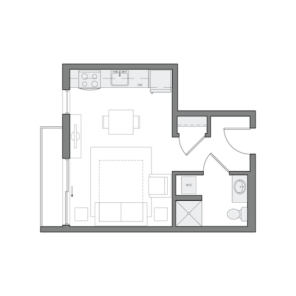 A1- Studio - 380sf