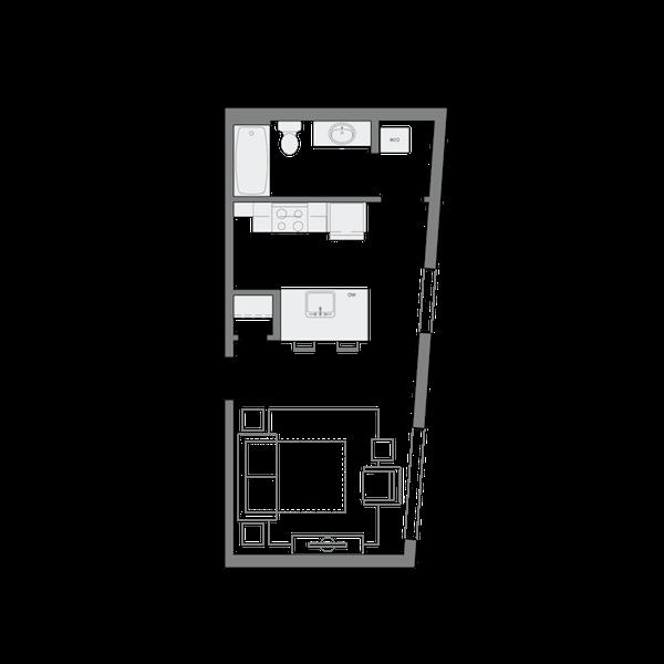 A2- Studio - 460sf