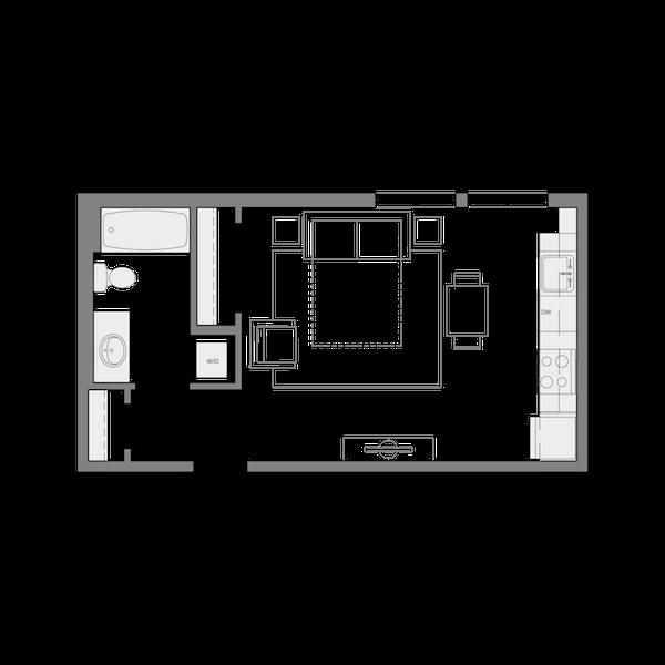 A3- Studio - 456sf